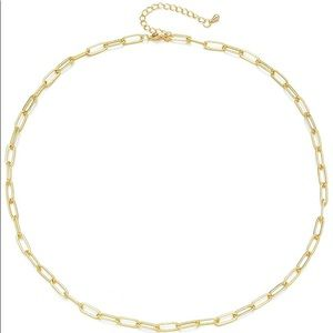 DAINTY GOLD PAPERCLIP LINK NECKLACE